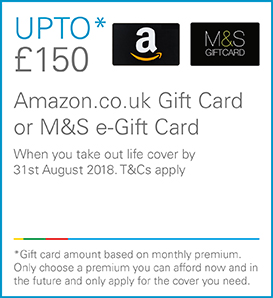 up to £150 amazon or M&S giftcard
