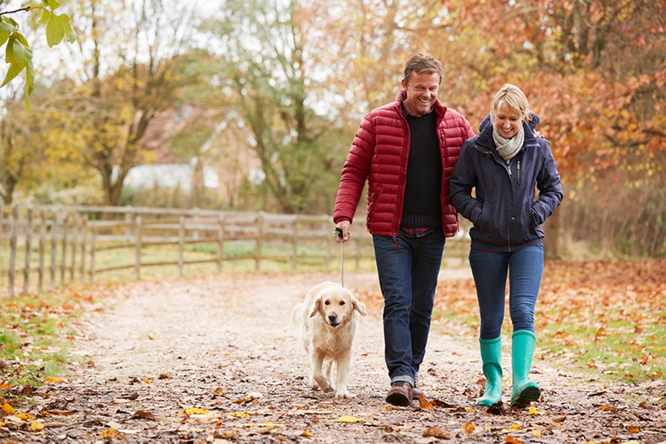 middle_aged_couple_walking_dog_autumn_Banner_Block_2120px