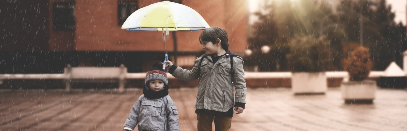 brothers under umbrella - putting life insurance in trust