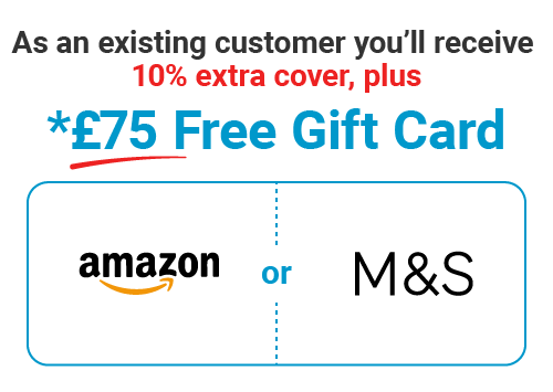 Over 50 Life Insurance - £75 Gift Card